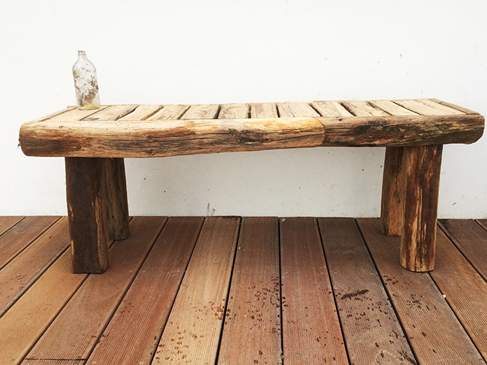 Rustic oak bench