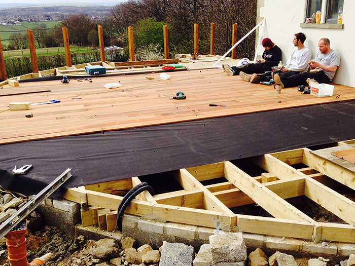 Cladding the deck with Balau