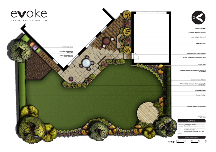 Garden Design Yorkshire rear garden design and build in scarcroft, yorkshire - evoke