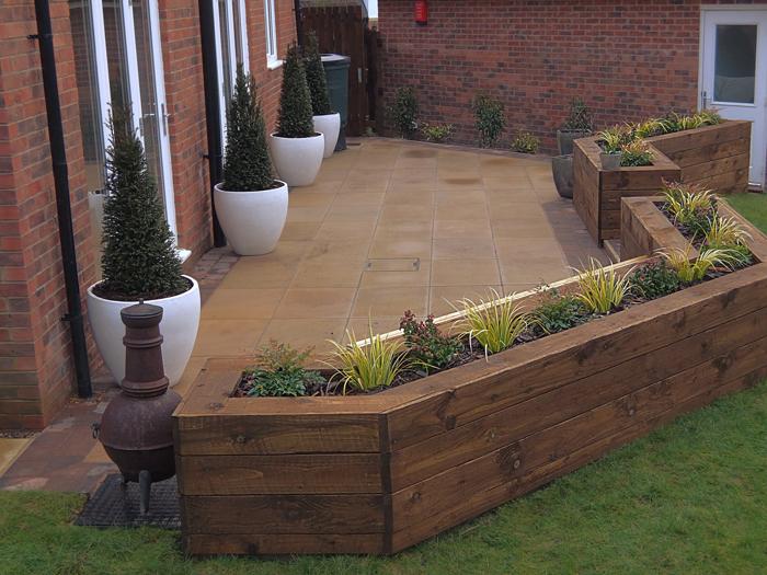 Rear Garden Contemporary Patio Evoke Landscape Design
