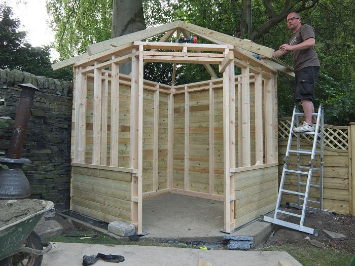 Diy garden summer house plans for Summer house plans free