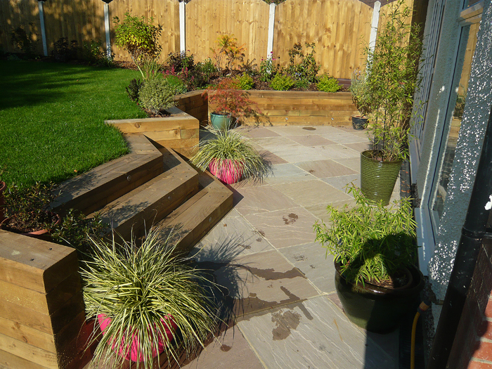 Contemporary Patio in Moortown, Leeds - Evoke Landscape-design